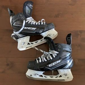 CCM Ribcor Silver Hockey Skates